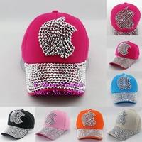 Hot Sale cap new design rhinestone apple children brand baseball caps High Quality cute kids child cotton hip hop snapback hats