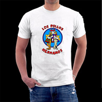 Breaking Bad Los Pollos Hermanos t shirt Heisenberg shirts tshirt  Short Sleeve O- Neck Printing T Shirt For Men