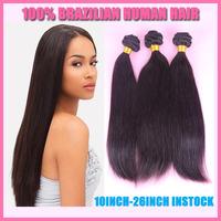 PRIDA HAIR Virgin Brazilian Hair Straight Weaves,cheap unprocessed 3 bundles Brazilian Human Hair Extension 8-32inch instock