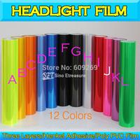Super Glossy Car Headlight Fog Tail light Tint Vinyl Light Film Vinyl Wrap  0.3x10m