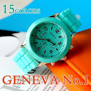 Минимальный заказ 2 шт. женева мужской кварцевые часы 14 color мужчин , женщин аналоговые наручные часы спортивные часы розовое золото силиконовые часы прямая поставка