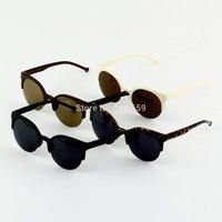 Fashion Unisex Retro Round Circle Frame Semi-Rimless Sunglasses gafas de sol New