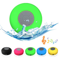 Portable Wireless Bluetooth Waterproof Speaker Car Shower Handsfree Receive Call & Music Suction Phone Mic Free Shipping