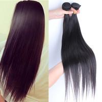 5A SunnyQueen hair products Malaysian virgin hair straight human hair extensions 3PCS straight hair natural black color