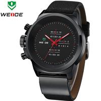 2014 NEW WEIDE Men Watch Sports Watches Analog Display Japan Quartz Movement Waterproof Fashion Leather Strap Watches