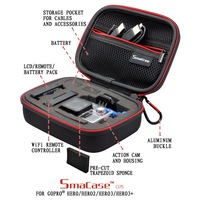 "Smatree Black 5.9"" x2.7"" x4.7""Carrying and Travel Case for GoPro Hero3 Hero3+ Cameras & Accessories"
