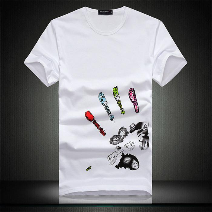 10 colors big Hand t shirt!Man men clothes Printing Hot 3D visual creative personality spoof grab your cotton T-shirt shirt(China (Mainland))
