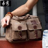Eshow fashion design large men handbag brown multipurpose messeger bag BFK010661