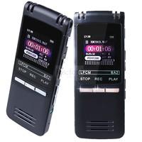 2014 Ultrathin  Professional Digital Audio Voice Recorder 8GB 1536KBPs WAV MP3 Recording Indirectional Dual Microphone