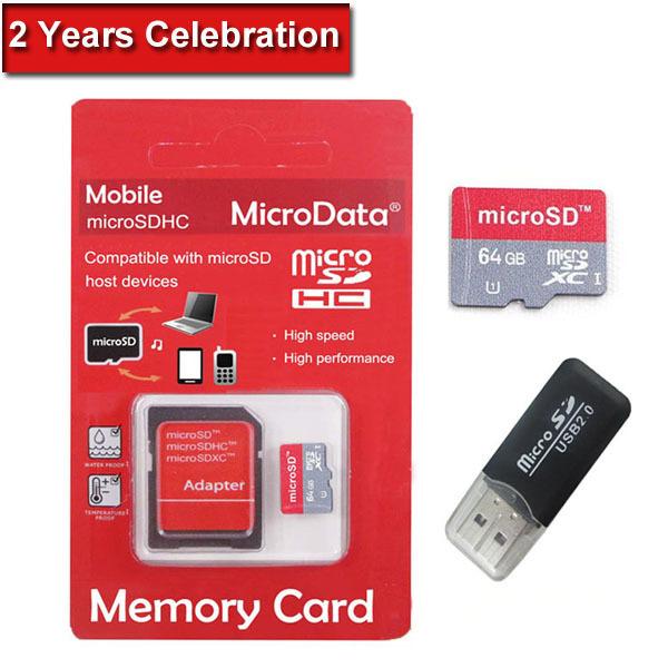 New Memory Card 64GB Micro SD Card Class 10 Flash Card Micro SDHC Microsd TF USB Reader MicroData Hot(China (Mainland))