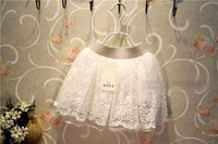 wholesale(5pcs/lot)- chiffon lacef;ower white  skirt for child girl