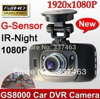NTK+9712Camera Lens Free Shipping1080P FHD Car DVR Recorder Camera Video GS8000L,Night Vision 120Wide Degree 500Mega,HDMI,H2.64