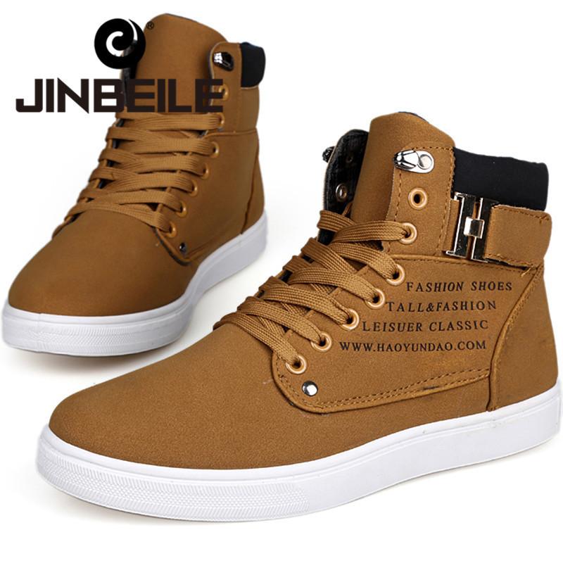 Ultimo 2014 autunno inverno scarpe da ginnastica per uomo moda casual piatto high top sneakers tela pizzo- up3 colori size39-44 spediti in 36h