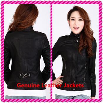 Женщины Натуральная кожа Jackets Модный Female Winter Motorcycle Brand Coat Outwear ...