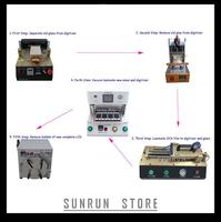 2014 Full Set OCA Laminating Machine(LCD Separator+Glue Remover+OCA Film Laminator+Vacuum OCA Lamination+Bubble Remove Machine)