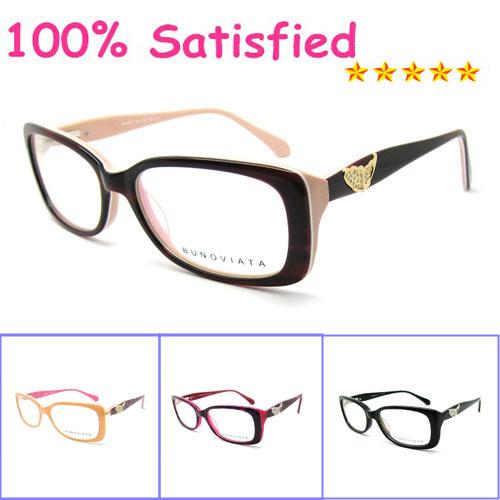 Free Shipping New Designer Acetate Oculos De Grau Grade Decoration Eye Glasses Frame Vintage Women Optical Eyeglasses B40229(China (Mainland))
