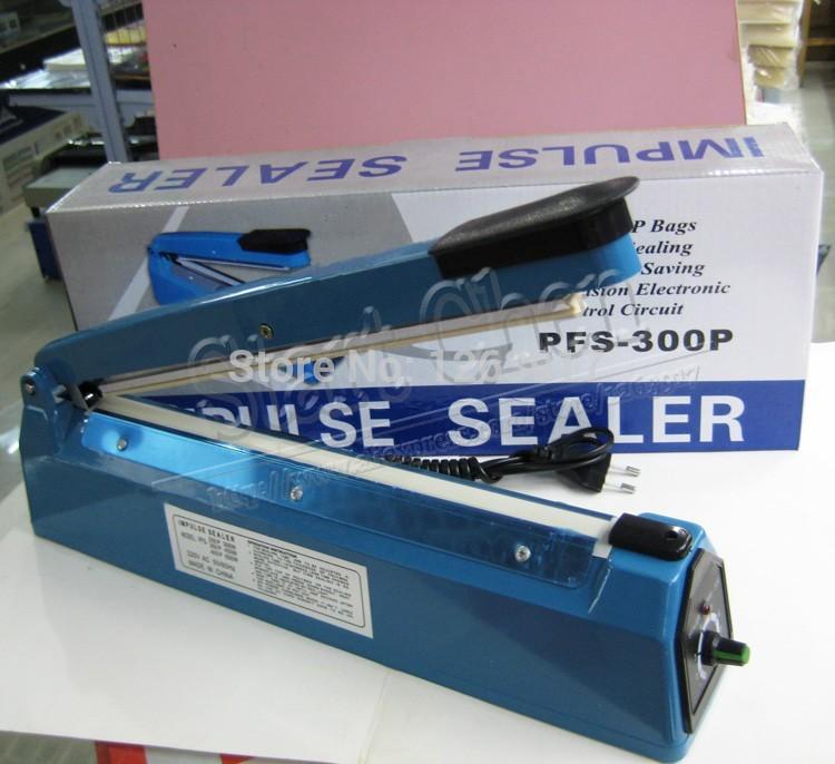 "12"" PFS300P Sealing Machine Hand Impulse Sealer Heat Seal Plastic Poly Bag Closer Bag Sealer Packaging Machine(China (Mainland))"