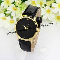 100pcs/lot 2014 new Men's leather quartz watches, top brand woman luxury fashion wristwatch designer casual leather dress watch