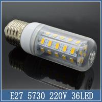 1x E27 LED Corn Lamp 7W 9W 12W 15W 20W 220V 24 36 56 69 SMD 5730 5630 Bulb Crystal Droplight Chandelier Spot Light 360 degree