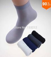 20pcs=10pair Cheap Brand Men Socks male Bamboo cotton autumn-winter sport socks&striped socks for men free Size Fit For All Foot