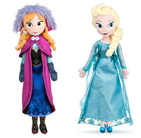 2pcs/lot Frozen Plush Dolls 40cm Size Frozen Elsa & Anna Princess Best Plush Toys for Gift and Resell