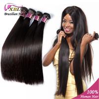 100% Unprocessed Brazilian Virgin Hair Straight 5A Hair Weave Extension Beauty Natural Brazilian Virgin Hair Straight 4 pcs/lot