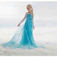 3-13yrs New 2014 Frozen Dress Elsa & Anna Summer Dress For Girl Princess Dresses Brand Girls Dress Children Clothing Kids Wear