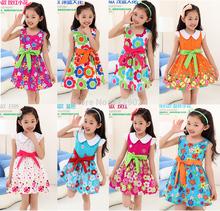 popular cotton girls dress