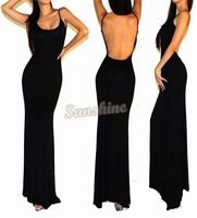 New 2014 Sexy women summer dress Spaghetti Strap sleeveless backless Long maxi Club wear cocktail party dresses B11 SV003496