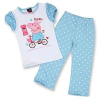 New Peppa pig pijamas Set Baby Girls Autumn Pajamas Cartoon Animal Children's Clothing for girls 2y -7y T shirt Kids Set Clothes
