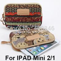 Kinmac Canvas Flip Cover For Apple iPad Mini Case for iPad mini 2/1