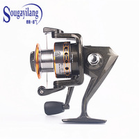 Top Quality ! Fishing Reel DE50 5.2:1 Metal spool Left Right Interchangeable Collapsible Handle Wheel Spinning Fishing Reel