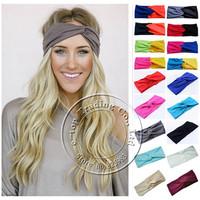 New Fashion Twist Sport Yoga Headband Bandana hijab Turban Headscarf Wrap Women Turbante Hair Accessories Free Shipping A0399