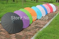 (30 pcs/lot) Handmade Solid Color Wedding Paper Parasols Diameter 33'' Straight Umbrella