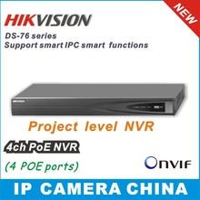 4 canales hikvision 2014 nvr& enchufe jugar hasta 4 canales poe onvif 6mp nivel de proyecto network video recorder(China (Mainland))