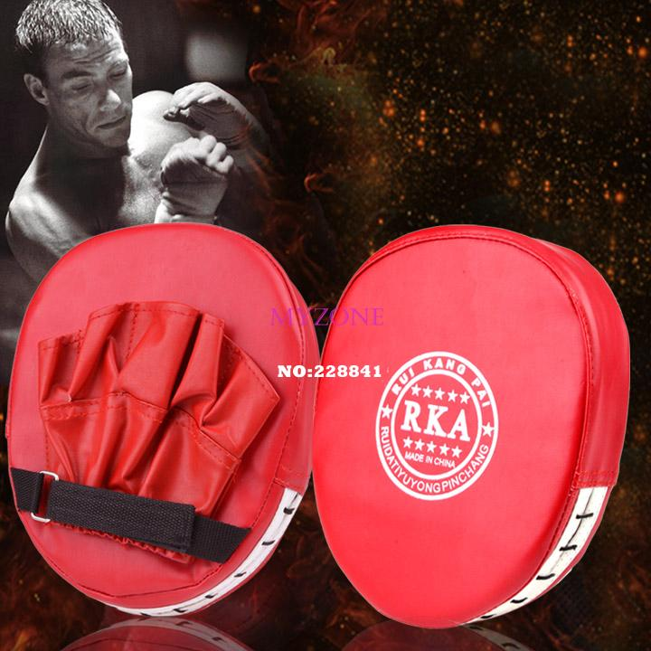 Lowest Price ! Fashion 1 Pcs Boxing Mitt Training Target Focus Punch Pad Glove MMA Karate Muay Kick Kit b7 SV005754(China (Mainland))