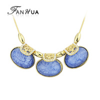Tibetan Style Blue Simulated Gemstone Necklace Boho Chic Choker Necklace New 2014 Summer collares vintage