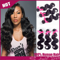 "Rosa hair products malaysian virgin hair body wave 3pcs lot,best malaysian body wave 8""-30"" remy human hair extension very soft"