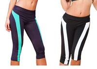 Yomsong 2014 New Fashion  Women's Legging Yoga  Patchwork  Fitness Sports Legging Women's capris Sports Pants