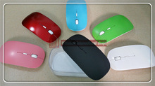 Store big promotion Free shipping 2014 new top selling ultra-thin super cheap 2.4G wireless mouse and receiver,six color options(China (Mainland))