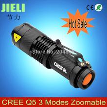 Envío Gratis Ultrafile Mini Negro O Gris CREE 700LM linterna LED de 3 modos de Zoomable luz LED antorcha(China (Mainland))
