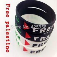 most popular silicone bangle wholesale palestine flag silicone bracelet palestine bracelet