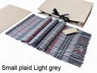 brand cashmere scarf Man and women's designer small plaid scarf  B-002