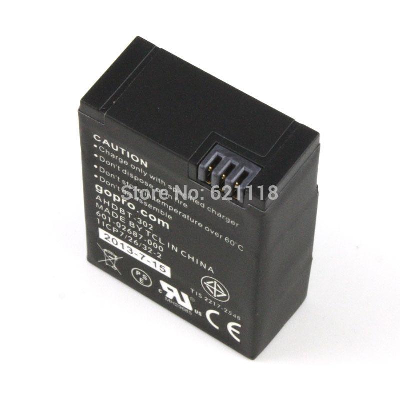 AHDBT 302 AHDBT 302 Battery for GoPro AHDBT 201 AHDBT 301 HD Hero 3 3 Hero3