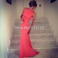 Women sleeveless  vestido longo para festa  long dress evening dress prom party Formfitting red dresses