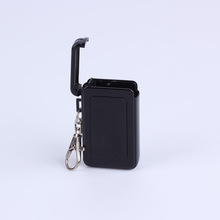2014 New Useful  Pocket Beach Ashtray  Metal Black Color Cigarette Portable Ashtrays Cenicero With Keychain Smoking Accessories(China (Mainland))