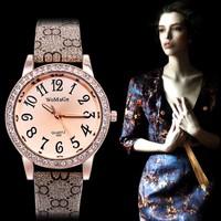 New Fashion Casual Women Leather Watches Hour Clock Luxury Rhinestone Quartz Watch Women dress Watches relogio feminino relojes