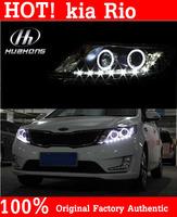 Free shipping 2012-2013 new KIA K2 kia Rio LED HID headlights,headlamps,HID Hernia lamp,LED KIT,auto car products,accessory