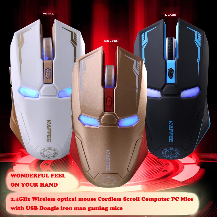 [해외]Free shipping 2.4GHz Wireless optical mouse Cordles..