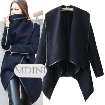 Женщины 2014 осень и зима мода улица двойной грудью пальто женский тонкий свободного ...